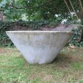3 Large Concrete Conical Municipal Planters image 2