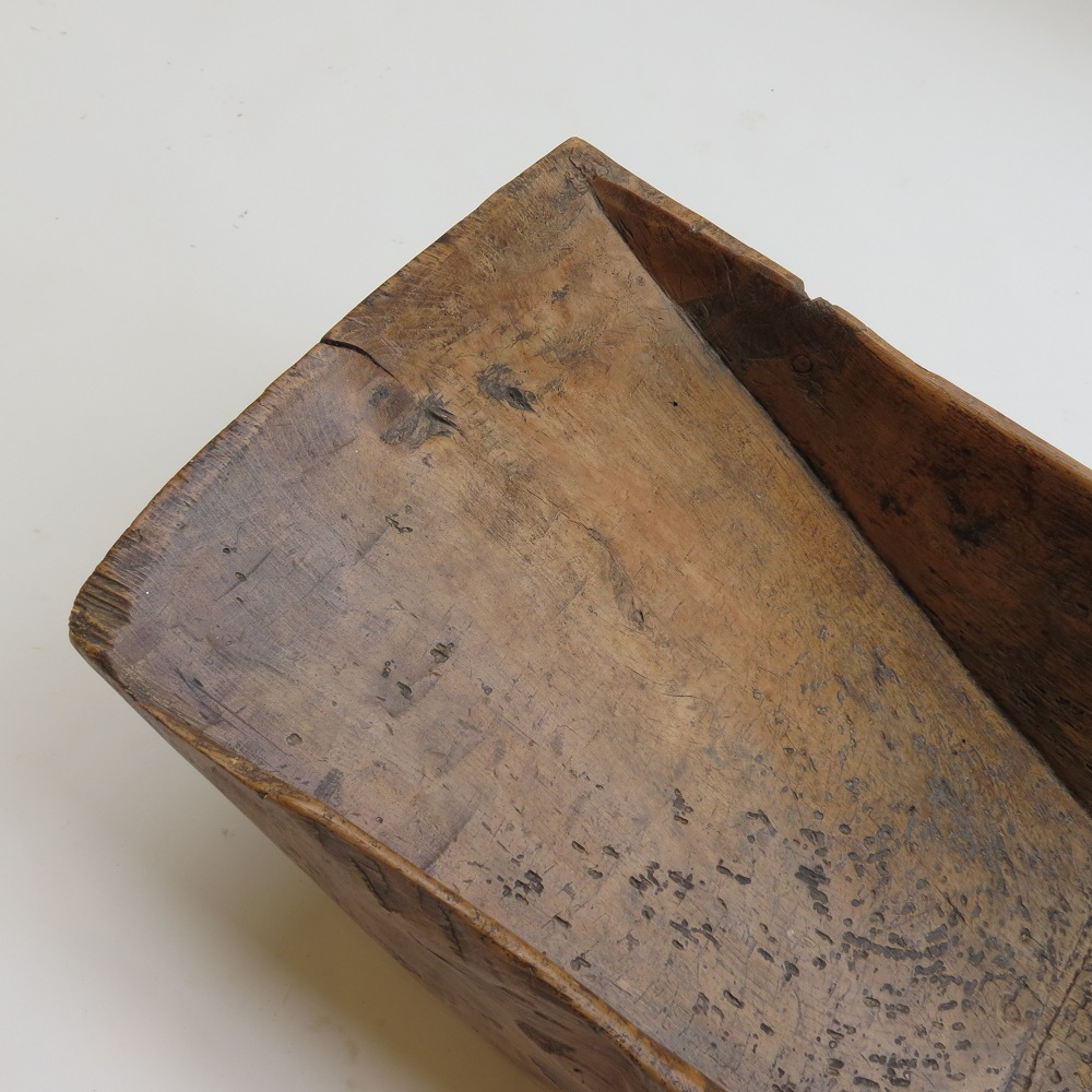 Large 19th Century Angle form Antique Wooden Pine Trough Trug image 5