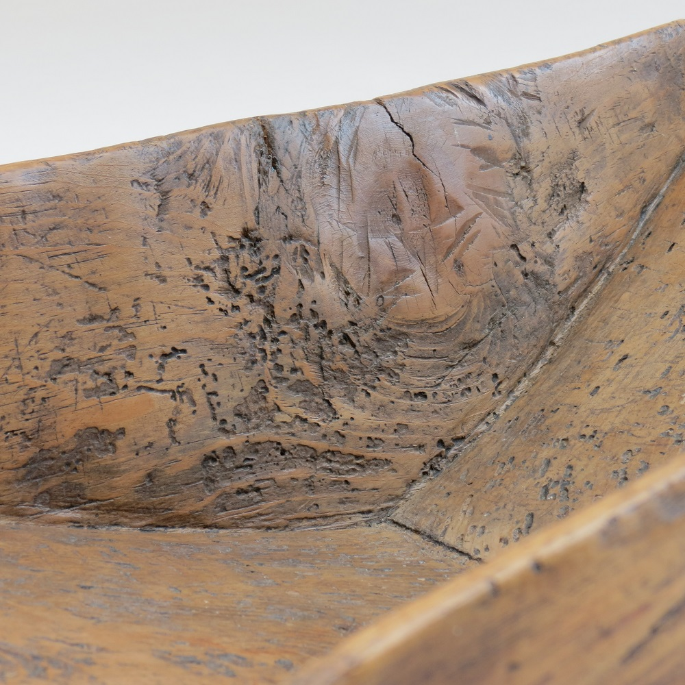 Large 19th Century Angle form Antique Wooden Pine Trough Trug image 4