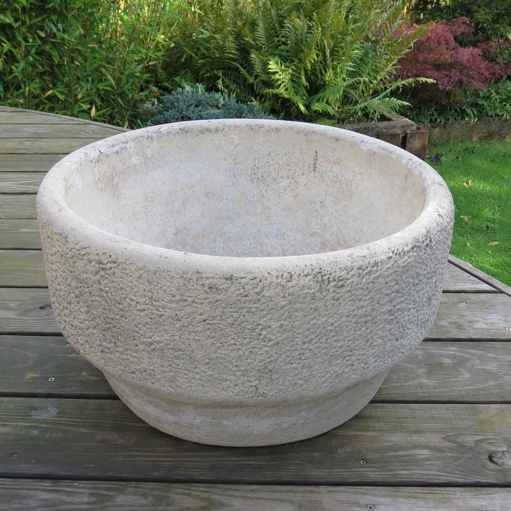 Brutalist 1970s Concrete Planter Plant Pot by Willow Lodge Crafts Glos