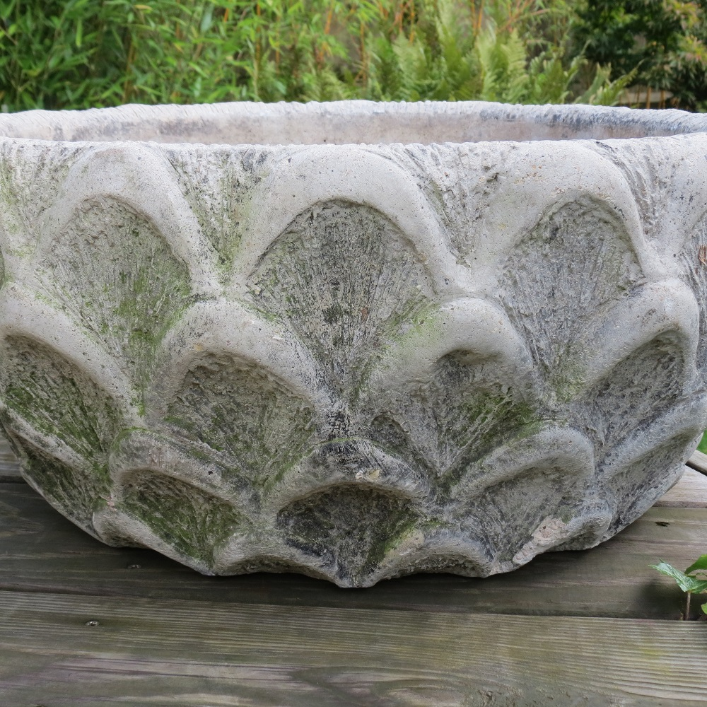 Pair of Cotstone Solid Concrete Decorative Garden Planters image 3