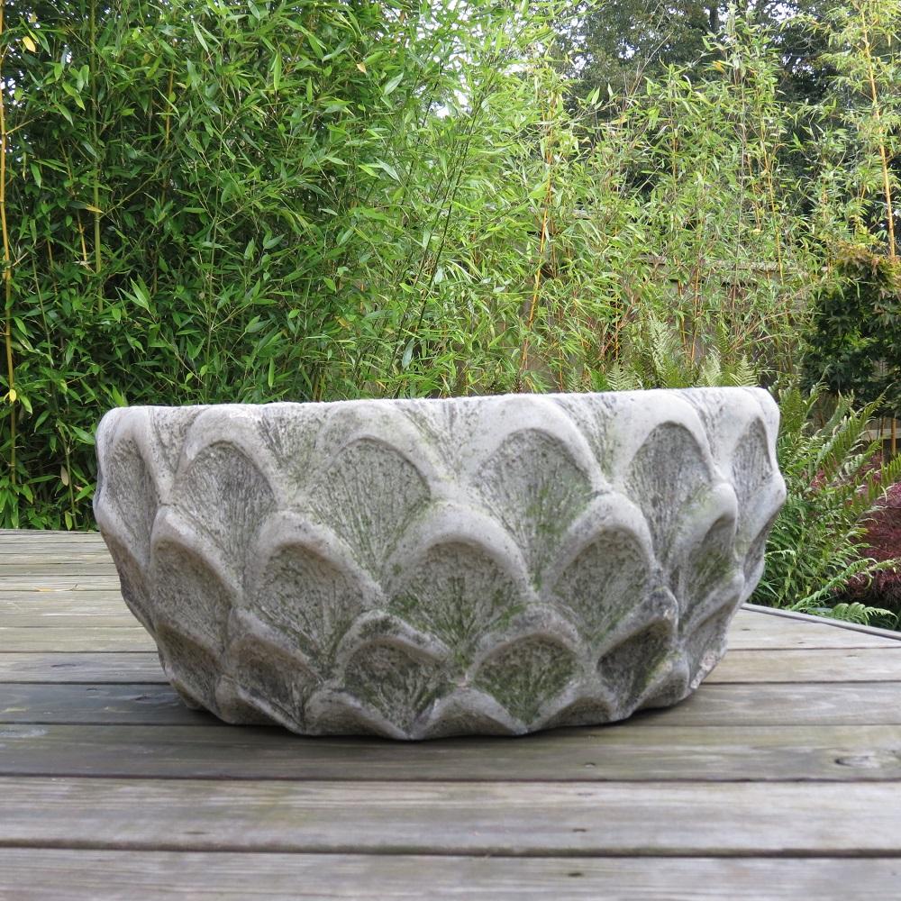 Pair of Cotstone Solid Concrete Decorative Garden Planters image 5
