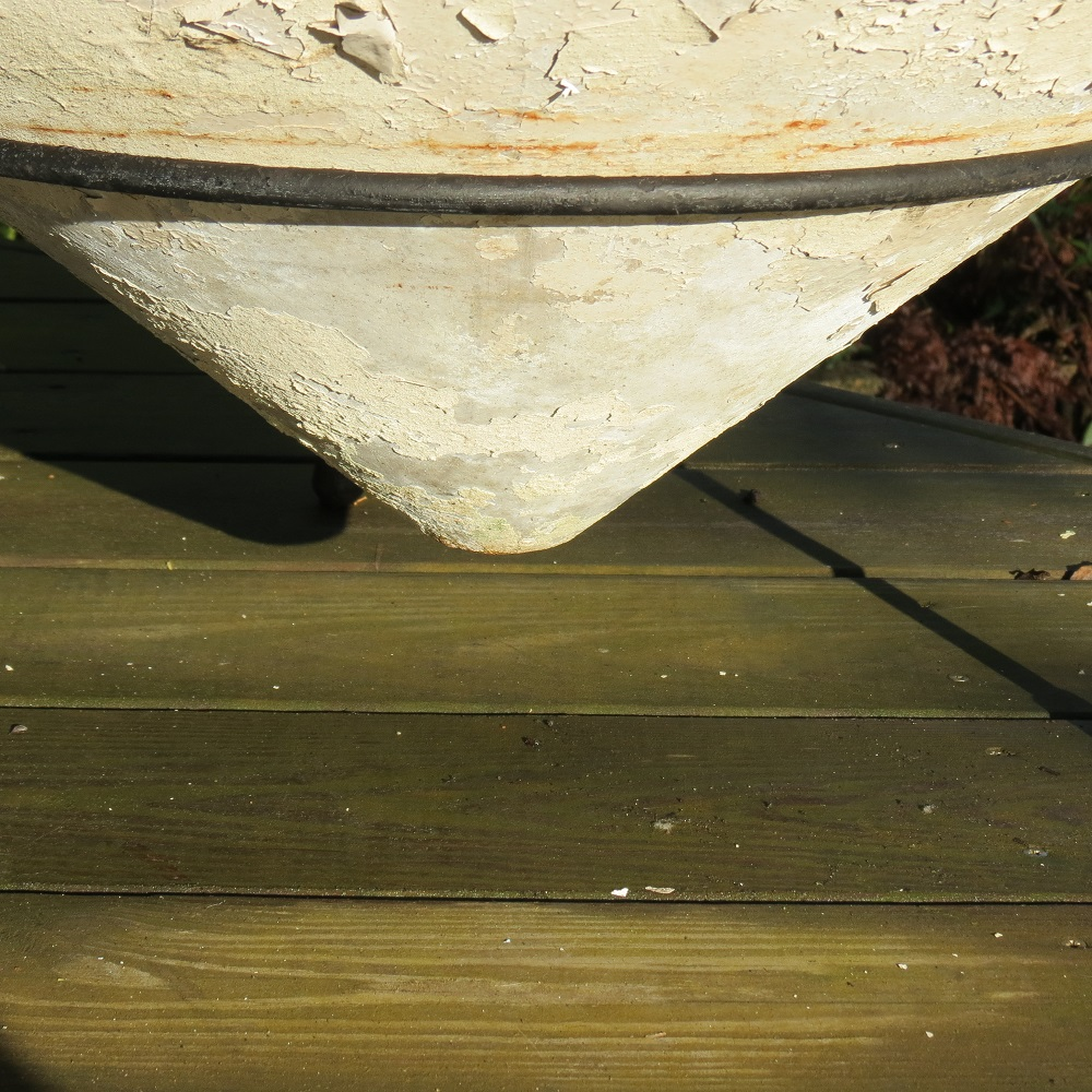 Very Large 1960s Conical Concrete Fibre Planter on Stand Florastone image 3